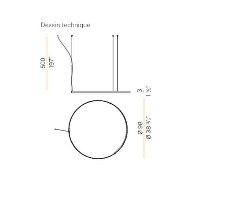 Zero round m03301 carlo panzeri suspension pendant light  panzeri  m03301 100 02 10  design signed nedgis 88184 product