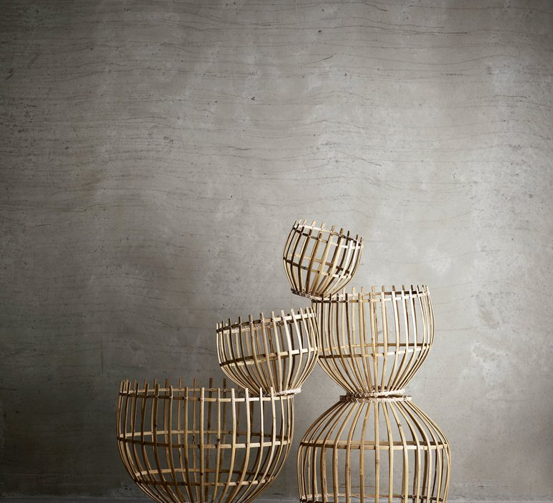Round basket l studio tine k home  suspension pendant light  tine k home basdome lamp  design signed 55336 product