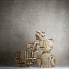 Round basket l studio tine k home  suspension pendant light  tine k home basdome lamp  design signed 55336 thumb