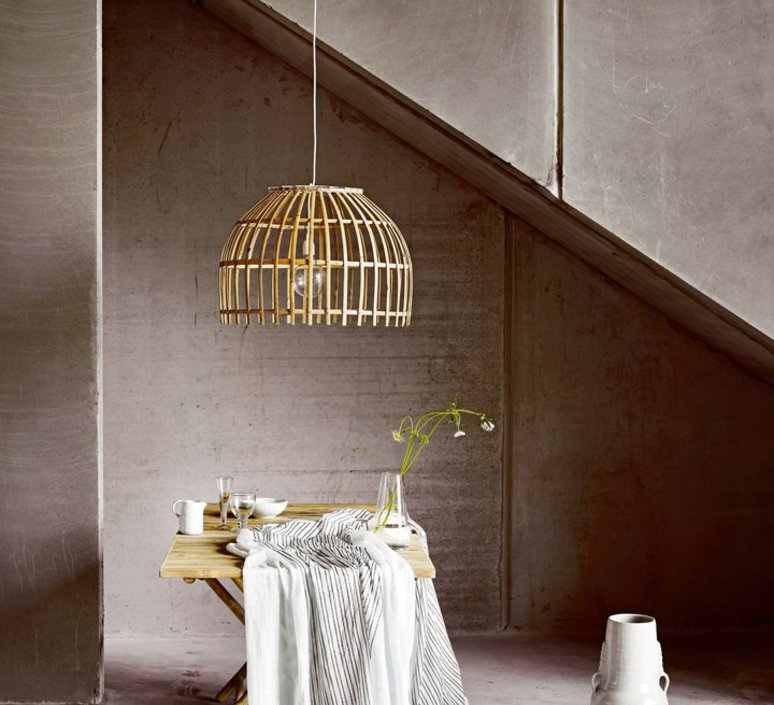 Round basket m studio tine k home  suspension pendant light  tine k home basdome m  design signed 55345 product