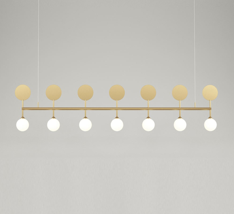 Row gwendolyn et guillane kerschbaumer suspension pendant light  atelier areti row pendant  design signed 36101 product