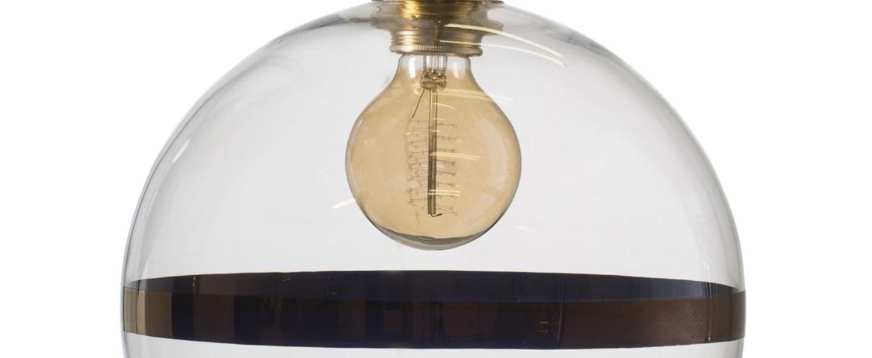 Suspension rowan 28 transparent cuivre o28cm h28cm ebb and flow normal