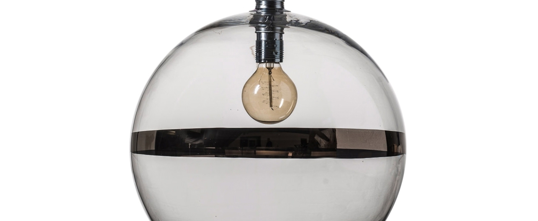 Suspension rowan 39 transparent platinium o39cm h39cm ebb and flow normal