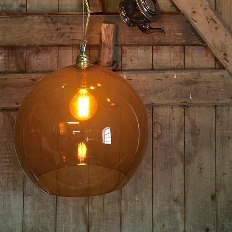 suspension rowan orange 39cm ebb and flow luminaires nedgis. Black Bedroom Furniture Sets. Home Design Ideas