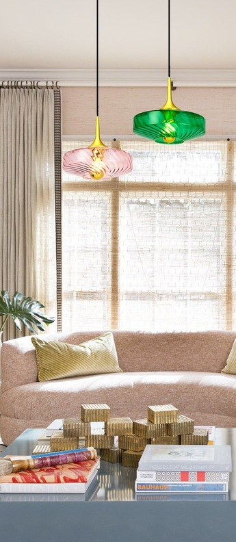 Suspension roxanne vert emeraude o28cm h15cm elements lighting normal
