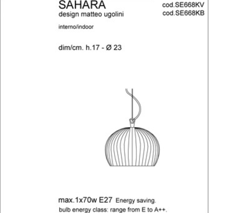 Sahara matteo ugolini karman se668kb luminaire lighting design signed 19641 product