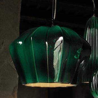 Suspension sahara vert blanc h24cm karman normal