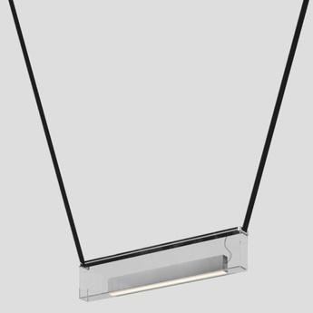 Suspension sainte 01 gris extra clair led 2700k 927lm l76cm h15cm lambert fils normal