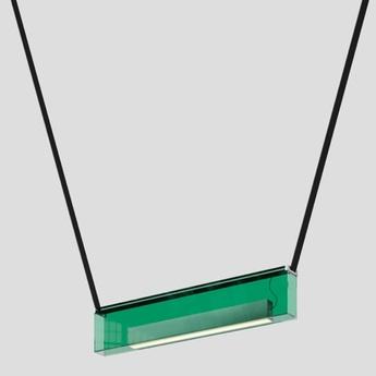 Suspension sainte 01 vert led 2700k 927lm l76cm h15cm lambert fils normal