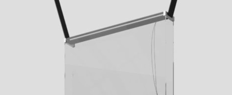 Suspension sainte 02 gris extra clair led 2700k 499lm l47cm h47cm lambert fils normal