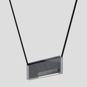 Suspension sainte 05 gris led 2700k 499lm l57cm h23cm lambert fils normal