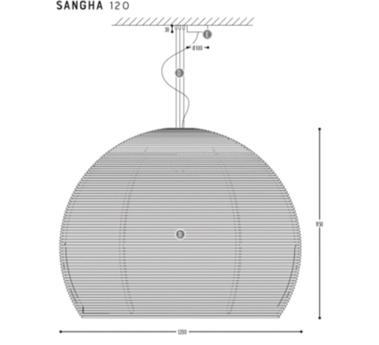 Sangha 120 studio dark suspension pendant light  dark 1010 5 02 001 01 02  design signed nedgis 88825 product