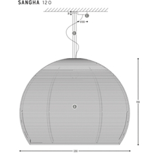 Sangha 120 studio dark suspension pendant light  dark 1010 5 02 001 01 02  design signed nedgis 88825 thumb
