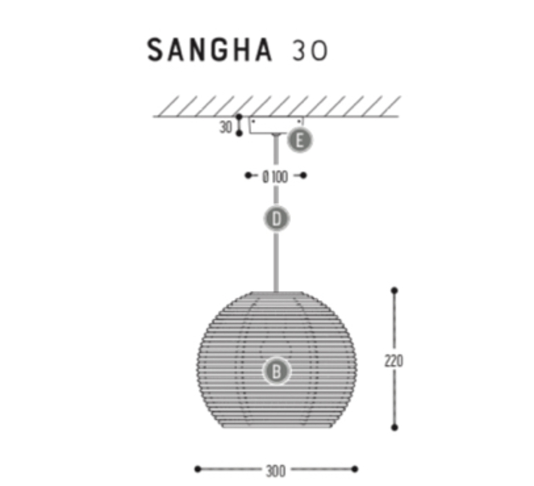 Sangha 30 studio dark suspension pendant light  dark 1010 1 02 001 01 02  design signed nedgis 68957 product