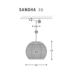 Sangha 30 studio dark suspension pendant light  dark 1010 1 02 001 01 02  design signed nedgis 68957 thumb