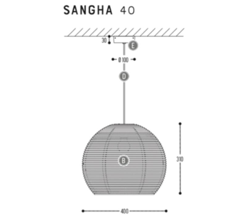 Sangha 40 studio dark suspension pendant light  dark 1010 2 03 001 01 03  design signed nedgis 68962 product