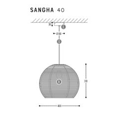 Sangha 40 studio dark suspension pendant light  dark 1010 2 03 001 01 03  design signed nedgis 68962 thumb