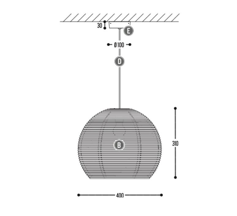 Sangha 40 studio dark suspension pendant light  dark 1010 2 02 001 01 02  design signed nedgis 117616 product