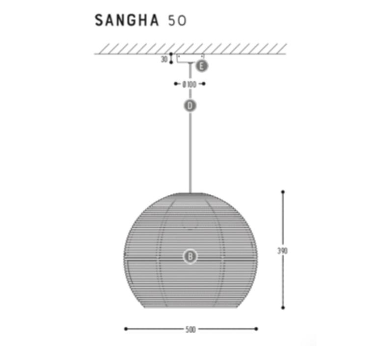 Sangha 50 studio dark suspension pendant light  dark 1010 3 03 001 01 03  design signed nedgis 69000 product