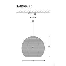 Sangha 50 studio dark suspension pendant light  dark 1010 3 03 001 01 03  design signed nedgis 69000 thumb