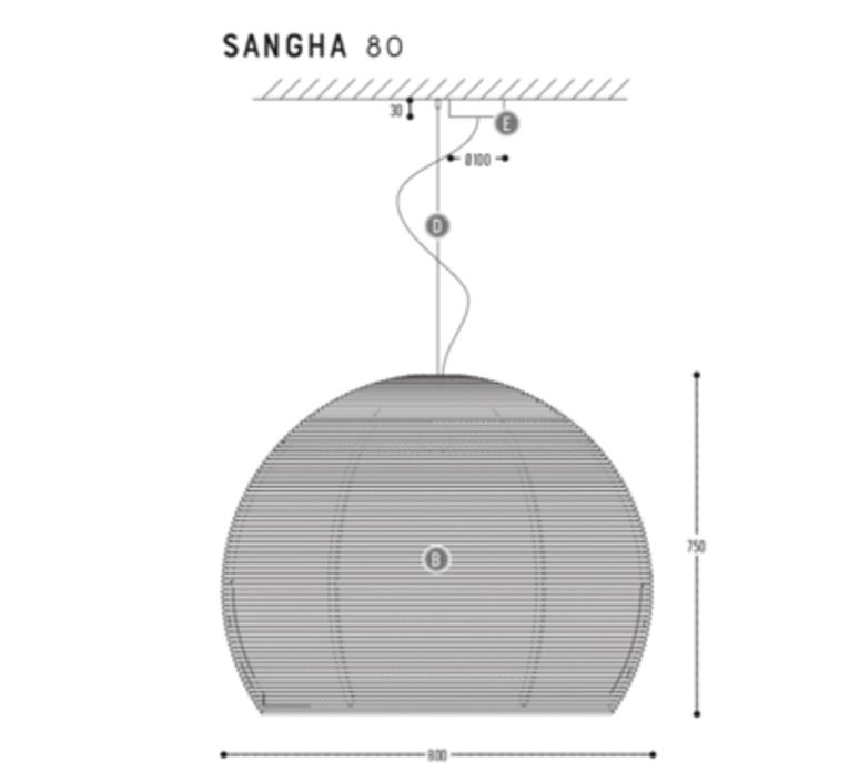 Sangha 80 studio dark suspension pendant light  dark 1010 4 03 001 01 03  design signed nedgis 69013 product