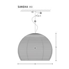 Sangha 80 studio dark suspension pendant light  dark 1010 4 03 001 01 03  design signed nedgis 69013 thumb