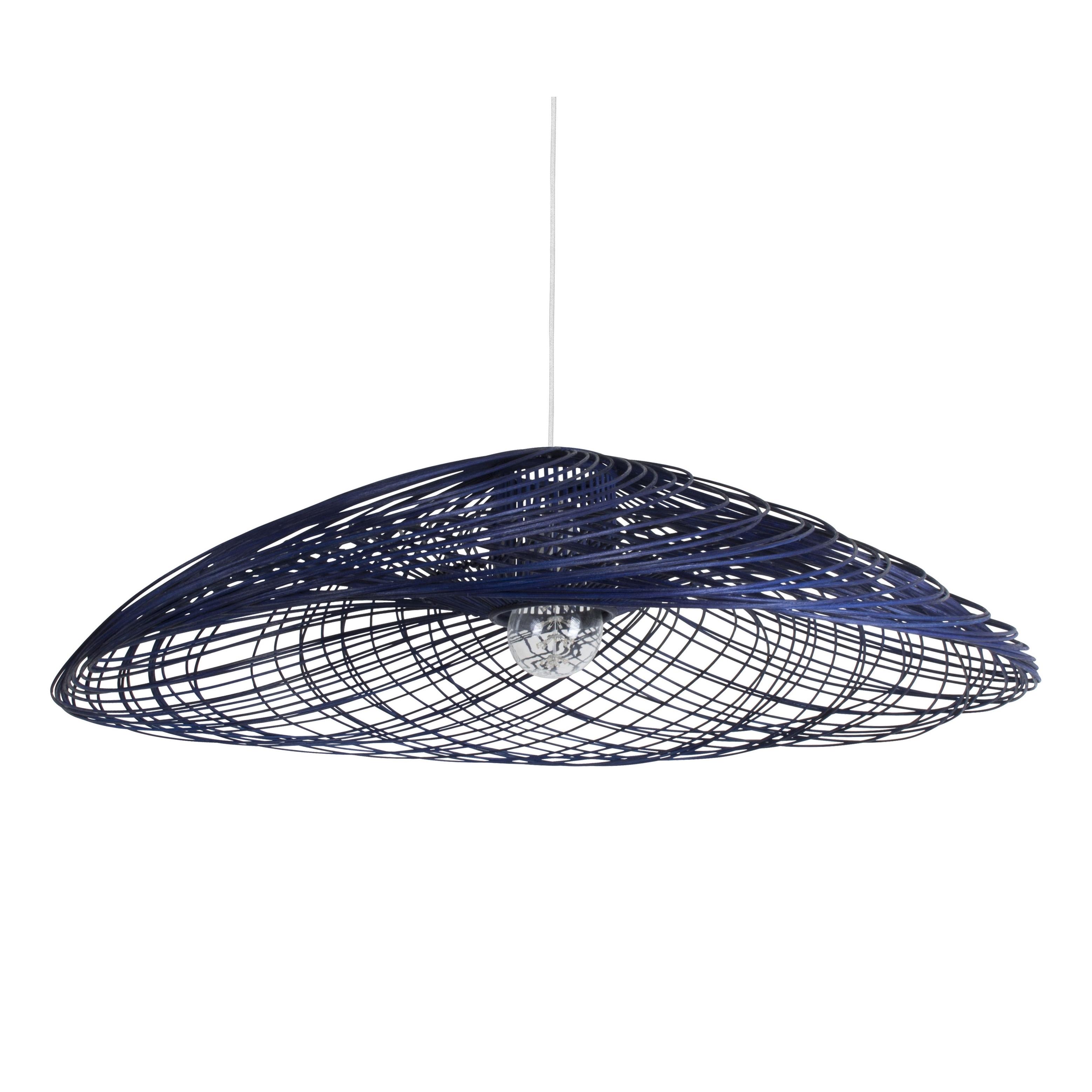 suspension rotin satelise mm bleu bleu 70cm forestier luminaires nedgis. Black Bedroom Furniture Sets. Home Design Ideas