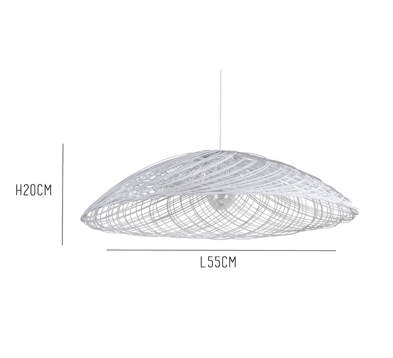 Satelise pm white elise fouin forestier ef12170swh luminaire lighting design signed 27386 product