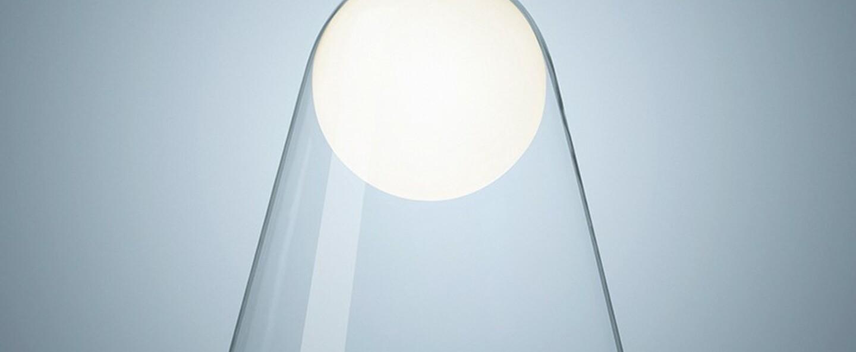 Suspension satellight blanc transparent dimmable led 2700k 2500lm o36cm h41cm foscarini normal