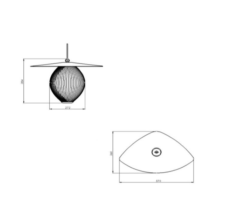 Satellite 27 mathieu mategot suspension pendant light  gubi 10015201  design signed nedgis 77576 product
