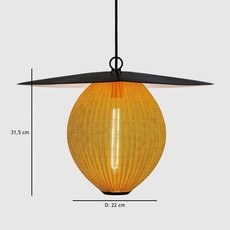 Satellite pendant midnight black  suspension pendant light  gubi 009 01104  design signed 37598 thumb