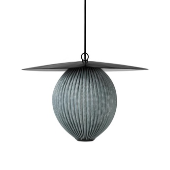Suspension satellite pendant midnight grey gris o22cm h31 5cm gubi normal