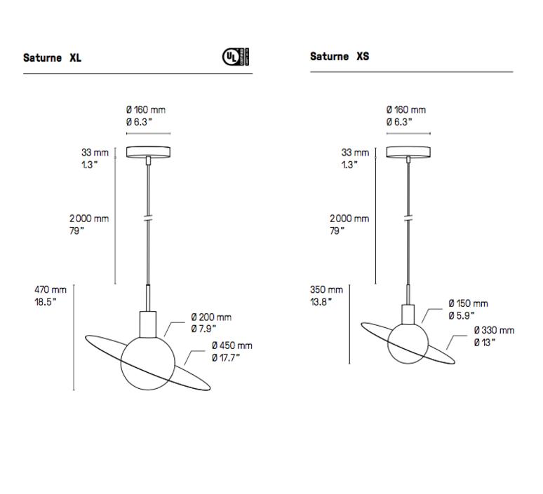 Saturne xl  suspension pendant light  cvl saturne xl  design signed 53529 product