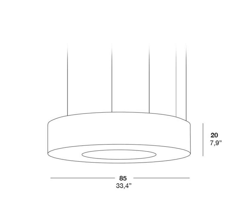 Saturnia sm rqr studio suspension pendant light  lzf dark sat sm 20  design signed 37983 product