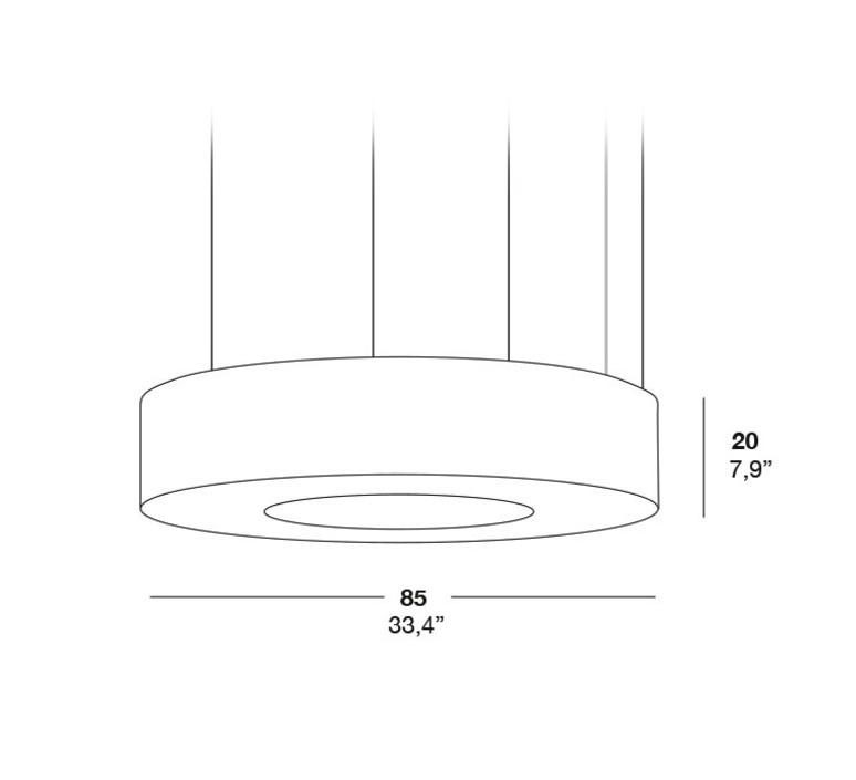 Saturnia sm oskar cerezo suspension pendant light  lzf saturnia sm dim 010 21  design signed 33770 product