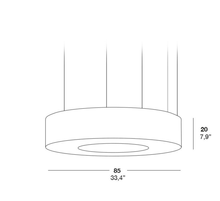 Saturnia sm rqr studio suspension pendant light  lzf dark sat sm 26  design signed 37998 product