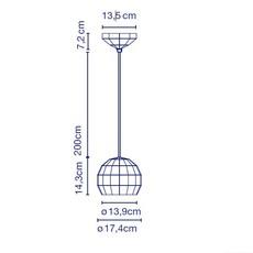 Scotch club 17 xavier manosa mashallah suspension pendant light  marset a656 001  design signed 43640 thumb