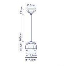 Scotch club 17 xavier manosa mashallah suspension pendant light  marset a656 008  design signed 43665 thumb