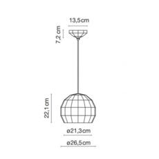 Scotch club 26 xavier manosa mashallah suspension pendant light  marset a656 130  design signed 43710 thumb