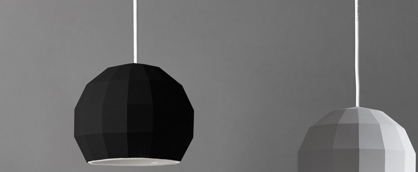 Suspension scotch club 26 noir et blanc o26 5cm h22 1cm marset normal