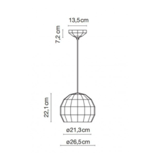 Scotch club 26 xavier manosa mashallah suspension pendant light  marset a656 136  design signed 43743 thumb