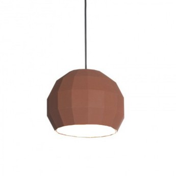 Suspension scotch club 26 terracotta blanc o26 5cm h22 1cm marset normal