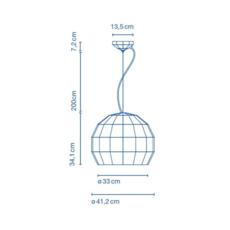 Scotch club 41 xavier manosa mashallah suspension pendant light  marset a656 145  design signed 43814 thumb
