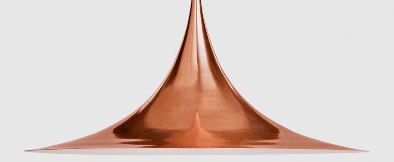Suspension semi 60 cuivre o60cm h30cm gubi normal