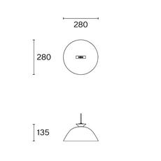 Sempe s1 inga sempe suspension pendant light  wastberg 103s19005  design signed nedgis 123456 thumb