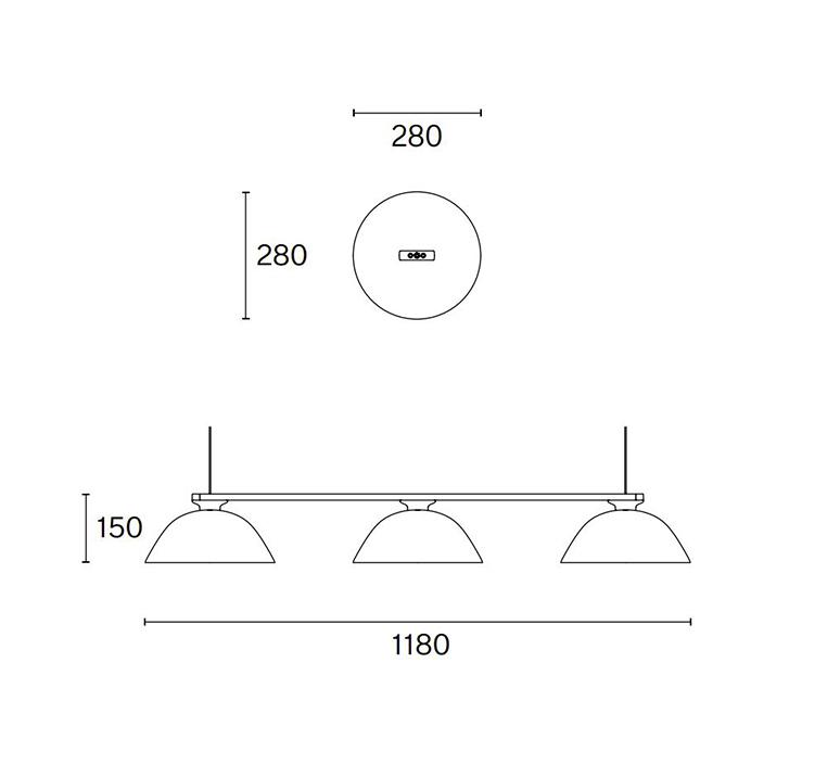 Sempe s3 inga sempe suspension pendant light  wastberg 103s39016  design signed nedgis 123443 product