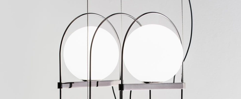 Suspension setareh 3 spheres chrome led 2700 2500 o44 9cm h44 9cm fontana arte normal