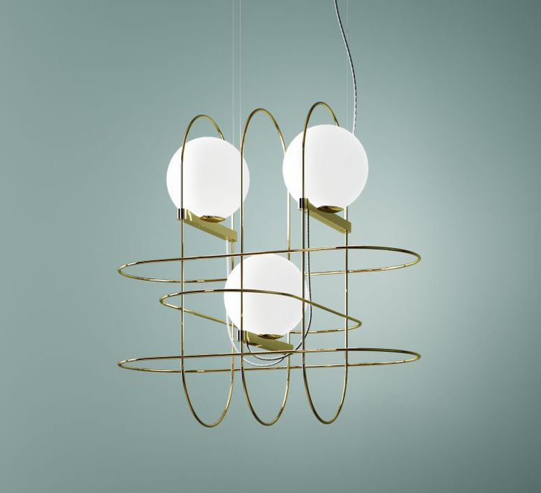 Setareh 3 spheres francesco librizzi suspension pendant light  fontanaarte 4383oo   design signed 39357 product
