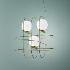 Setareh 3 spheres francesco librizzi suspension pendant light  fontanaarte 4383oo   design signed 39357 thumb