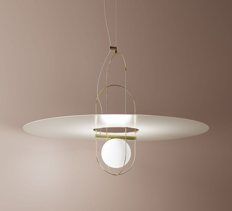 Setareh  francesco librizzi suspension pendant light  fontana arte setareh 4380oo gold  design signed nedgis 66309 product